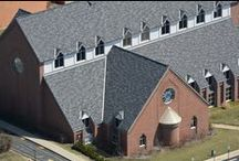 Church Shingle Roof / A recent church shingle roof project in St. Louis.