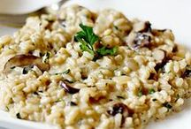 { rice recipes } / rice recipes : risotto etc.