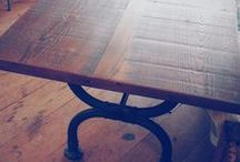 Custom Made Tables / Custom Made Tables are designed and handcrafted to your specifications—Using your choice of materials: reclaimed wood, metal, marble.