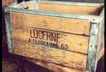 Old Crates / Baskets / Wood + Metal