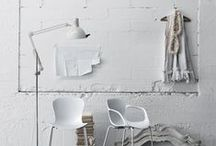 White Interiors - Inspiration / With Industrial + Antique Accents