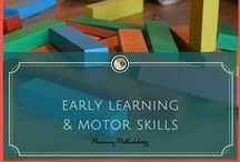 """Early Learning + Motor Skills / """"Whenever a toddler sees a pile of blocks, he wants to tear it down."""" ~ J. J. Abrams"""