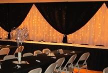White & Black Weddings / wedding decor by www.grapevineweddingrentals.com