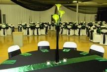 Green & Black Wedding