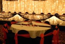 Red, Black & White Wedding