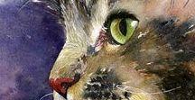 Кошки-арт (Cats-art) / Иллюстрации и живопись с кошками