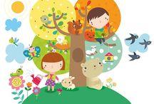 <3 Children Illustration