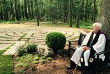 Our Labyrinth / Our beautiful labyrinth is set in a serene wooded grove. All are welcome.