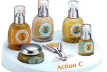 Skincare | Action C 25% Vitamin C / Action C Skincare is 25% Vitamin C based skincare system, containing natural Vitamin C derived from the Acerola fruit. It also contains Vitamin B1, Vitamin B6, Folic Acid, Niacin, Beta Carotene and minerals. All five Action C products are non-abrasive and gently exfoliate to peel away dead skin cells, revealing a new and more beautiful complexion. Continued use of Action C products will improve the overall health and appearance of your skin, not only now, but also long into the future.