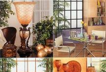 Home Decor / Get started now on decorating! The look is light and lively this year. Gone are the days of dark rooms, heavy drapes and two color combinations. In are light rooms with lots of light, lots of different colors, with several styles blended into one very interesting look! You can have antiques mixed with contemporary and vases you spent $100's of dollars on mixed with knick knacks you spent 50 cents on at a garage sale! Everything goes and goes together! Just BE yourself!