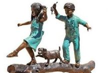 Garden Statues / Artistically accenting a garden path is simple with our extensive selection of garden statues and collections of bronze statues and memorial garden benches! Create instant serenity with our fountains and angel statues, or a contemporary monument with our mythical fairy statues and whimsical statues of children.  Shop Today