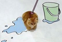 Kočka - dokreslované apod. fotografie