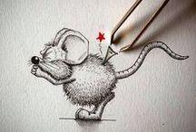 Myš - dokreslované fotografie