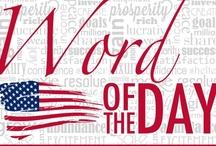 Word of the Day / Palabra del día / Para escrever e falar melhor!