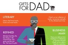 Gift Ideas for Dad / Dad is the best, and Dad deserves the best! Here are some great gifts that Dad will love!