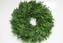 """Fresh Wreaths  / Nothing says """"Merry Christmas"""" better than a beautiful Wreath with a cheery Handmade Bow hung on a front door. Great your family and friends with a Gardens of the Blue Ridge wreath that is made with the specific greenery you prefer, plain or decorated with natural pine cones and/or a bow made of many different selections of ribbon. You will be amazed at the array of sizes and combinations of greenery you can choose from."""
