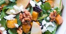 Salads / Healthy salad recipes, with lots of interesting toppings, seasonal ingredients, and delicious dressings to choose from. No matter what season, there's always a way to spruce up a plain bowl of greens into a nutritious meal. Perfect for lunch or dinner!