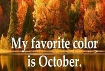 Autumn / These are a few of my favorite things: Glorious colored leaves, harvest moons, cider and hot chocolate.  It is something about the FEEL in the air.