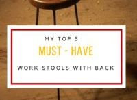 Work Stools With Back / Work Stools With Back| Plenty of exciting ideas about beautiful, ergonomic, top quality work stools with backrest that you can buy for your DIY workshop.
