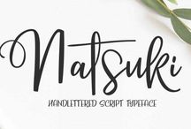Great Fonts / Beautiful fonts from around the web. Handwritten fonts, script fonts, bubble fonts, and more. Ideas for font pairings and font combinations. Some free fonts and others available for purchase.