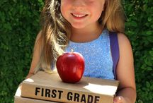First Day of School Ideas / Ideas for those cute first day of school pictures and more. First day of school or kindergarten signs, first day of school outfits, and first day of school activities to prepare your little one for their first day.