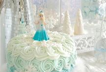 """Frozen Birthday Party Ideas / Ideas for a Frozen birthday party or winter wonderland party. Great ideas for a first birthday """"winter onderland"""" party or any birthday! Frozen invitations, outfits, decorations, favors, cakes, snowflake crafts, and other party ideas."""