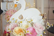 Swan Party Ideas / Ideas for a swan party or swan lake birthday party. Swan invitations, swan or ballerina birthday outfits, swan themed cakes, swan favors, and more. Perfect theme for a little girl's birthday party or a baby shower!