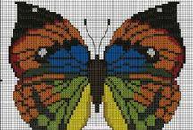 Cross- stitched-Needle / Handarbeiten -Sticken / by Helga Schaedler
