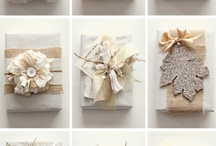 Wrap It Up / Beautiful DIY gift wrap design with a vintage flair, including twine, juke, ribbon, newspaper, burlap, broches and more.