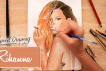Gli Speed Drawing di Sofia / Video di #timelaplse di ritratti di personaggi famosi realizzati in #acquerello . #speeddrawing #speed #drawing #watercolors