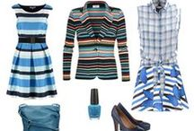 Mix and Match / dots, stripes, flowers, checks ... mixed together for fashionable outfits.