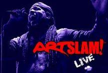 ART SLAM LIVE™ / Promo art and imagery created for our live art event. http://artslamlive.com/