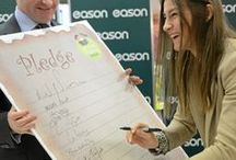 Celeb Signings @ Eason / Pins of celebrity signings from Eason stores across Ireland.