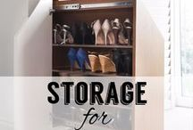 Storage for Awkward Spaces / Whether it's a loft conversion or just an odd shaped room, embrace the awkward and make the most of all nooks and crannies with clever storage