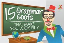 ELA: Grammar / Grammar resources -- articles, infographics, lessons, ideas / by The Learning Effect