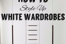 How to style up white wardrobes / Sometimes the only colour you need is white. When it comes to wardrobes, if it's white, then do it right!