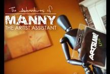 MANNY THE ARTIST'S  ASSISTANT / Over the years Manny's been seen helping to stage photo shoots, hold equipment and lately, even pose in FRONT of the camera! Take a look into the life of this valued Team Member!