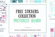 Planner: free stickers / Free stickers for planner, organizer or whatever