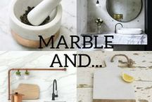 Marble and... / A look at how adding some touches of marble to your home can transform a room, and how it's complimented by other materials