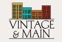 Vintage and Main / A place to discover quality vintage for your decor and wardrobe styling from the shops at VINTAGE AND MAIN. See all products offered at Vintage and Main here:  http://bit.ly/vintageandmain-allitems