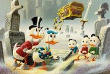 Donald duck & uncle scrooge / I was 21 yo but still fall in love with Donald Duck and the duck families!