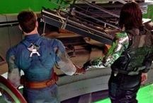 "i knew him. / Captain America {lol jk mainly Bucky} | ""He's my friend."" ""So was I."""