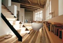 Parquet in rovere idee per la casa / Interior design con parquet: giochi di superfici, colori e formati per creare ambienti dallo stile unico. Tante idee tutte da copiare!