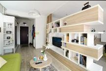 Bookcase and TV wall