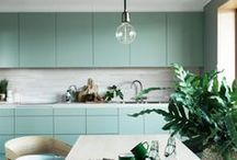 KITCHEN Ι pastel colors Ι ΚΟΥΖΙΝΑ: Παστέλ Χρώματα / Kitchen and dining inspirations