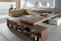 KITCHEN Ι greige white & wood Ι ΚΟΥΖΙΝΑ: γκρι μπεζ λευκό & ξύλο / Kitchen and dining inspirations