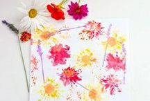 Crafty Ideas Inspired by the garden and nature / If its cold outside, why not try some of these nature inspired craft ideas