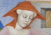 Medieval: Open Hoods / Manuscript illuminations and other period artwork depicting the open hood.