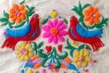 AMO BORDAR / Sou Designer de Moda e adoro bordar, no momento, estou curtindo o artesanato do MÉXICO.