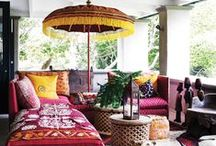 Balcony / Ideas for colorful balcony with ethnic spices.